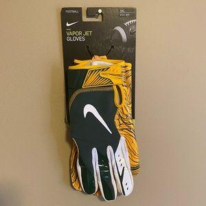 Nike Vapor Jet 5 Gloves Packers Size 3XL